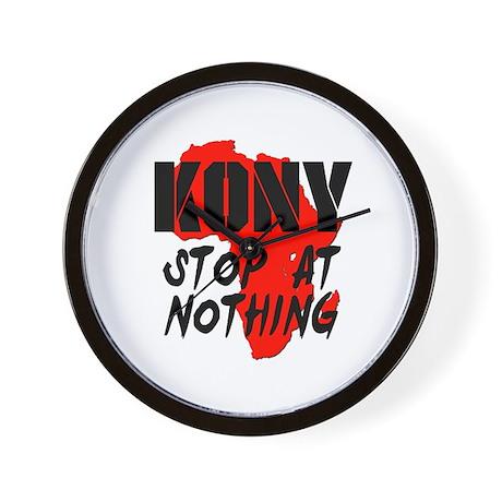 Kony Stop At Nothing Wall Clock