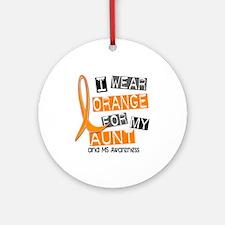I Wear Orange 37 MS Ornament (Round)