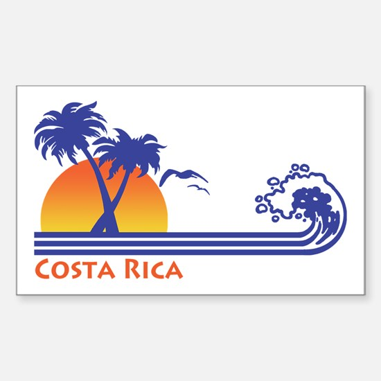 Costa Rica Sticker (Rectangle)