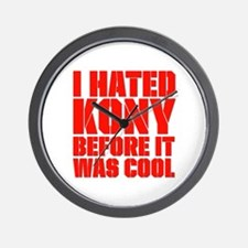I Hated Kony Before It Was Cool Wall Clock