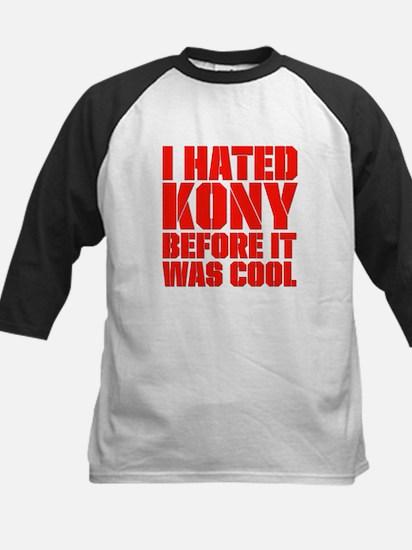 I Hated Kony Before It Was Cool Kids Baseball Jers