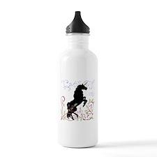 Unique Black forest horse Water Bottle