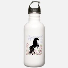 Unique Black forest horse Water Bottle