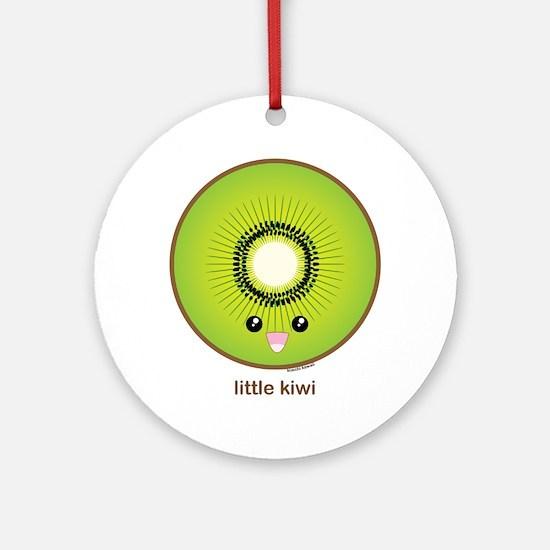 Kawaii Kiwi Ornament (Round)