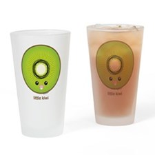 Kawaii Kiwi Drinking Glass