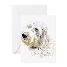 Butters the Labradoodle Greeting Card