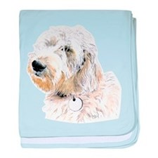 Butters the Labradoodle baby blanket