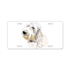 Butters the Labradoodle Aluminum License Plate