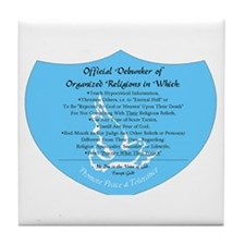 Organized Religion Debunker Tile Coaster