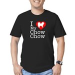 I Love My Chow Chow Men's Fitted T-Shirt (dark)