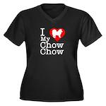 I Love My Chow Chow Women's Plus Size V-Neck Dark