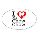 I Love My Chow Chow Sticker (Oval 10 pk)