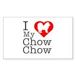 I Love My Chow Chow Sticker (Rectangle 10 pk)