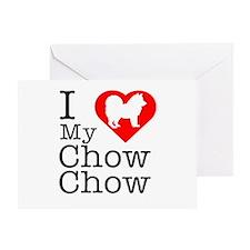 I Love My Chow Chow Greeting Card