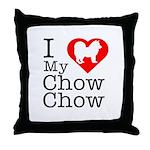 I Love My Chow Chow Throw Pillow