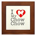 I Love My Chow Chow Framed Tile