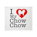 I Love My Chow Chow Throw Blanket