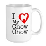 I Love My Chow Chow Large Mug