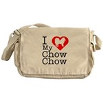 I Love My Chow Chow Messenger Bag