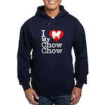 I Love My Chow Chow Hoodie (dark)