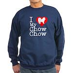 I Love My Chow Chow Sweatshirt (dark)