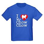I Love My Chow Chow Kids Dark T-Shirt