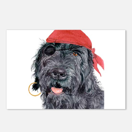 Pirate Labradoodle Postcards (Package of 8)