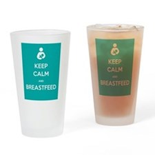 Keep Calm & Breastfeed - Drinking Glass