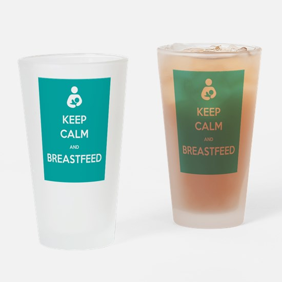 Keep Calm & Breastfeed - Drinking Glass