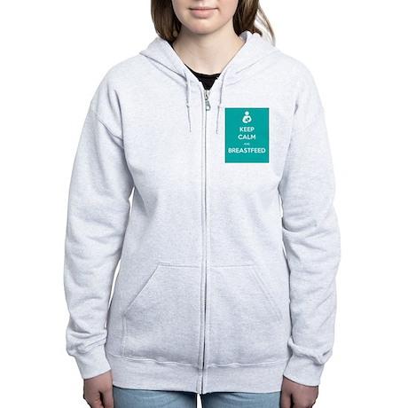 Keep Calm & Breastfeed - Women's Zip Hoodie