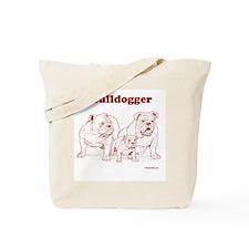 Bulldogger Red/Tote Bag