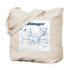 Bulldogger Family Blue/Tote Bag