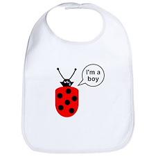 Ladybug I'm a Boy Bib