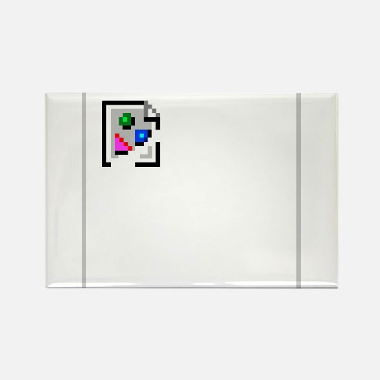Broken Image Icon Rectangle Magnet