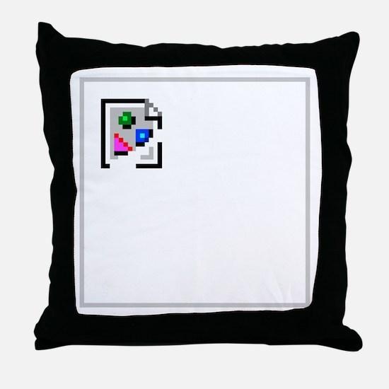 Broken Image Icon Throw Pillow