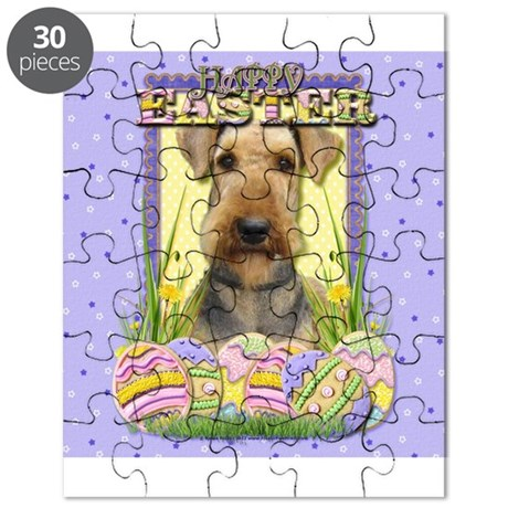 Easter Egg Cookies - Airedale Puzzle by FrankzPawPrintzEaster