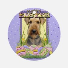 Easter Egg Cookies - Airedale Ornament (Round)