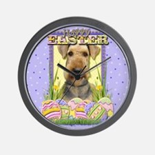 Easter Egg Cookies - Airedale Wall Clock