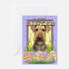 Easter Egg Cookies - Airedale Greeting Card