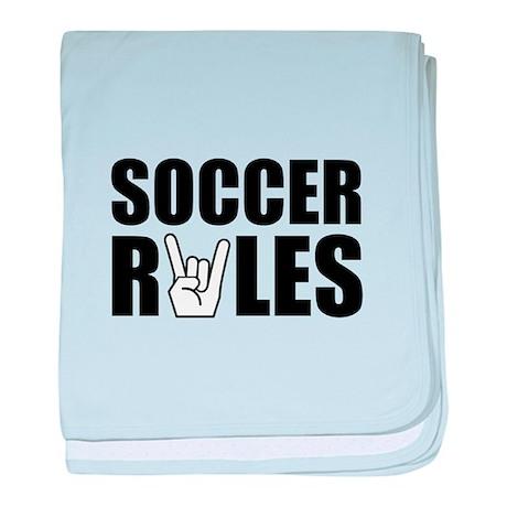 Soccer Rules baby blanket