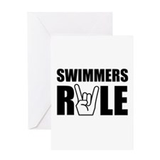 Swimmers Rule Greeting Card