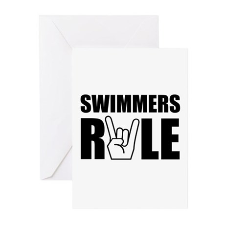 Swimmers Rule Greeting Cards (Pk of 10)