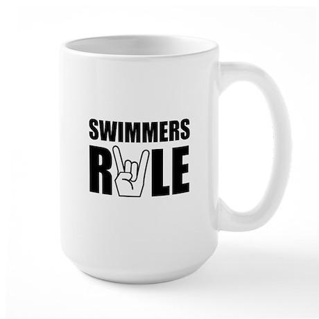 Swimmers Rule Large Mug
