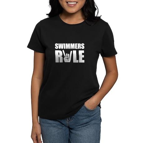 Swimmers Rule Women's Dark T-Shirt