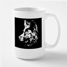 b/w silouette Mug
