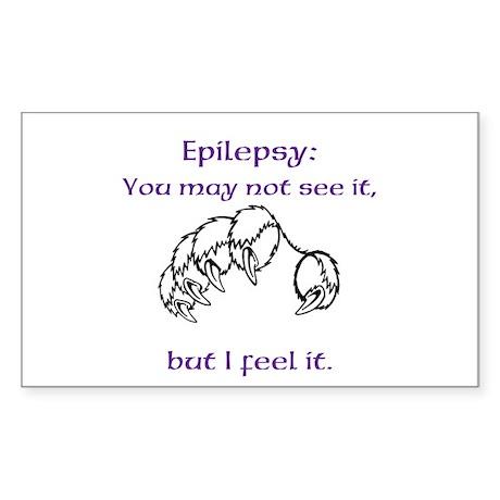 I feel Epilepsy Sticker (Rectangle)
