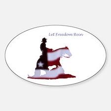 freedom rein Sticker (Oval)