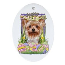 Easter Egg Cookies - Yorkie Ornament (Oval)