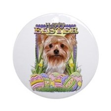 Easter Egg Cookies - Yorkie Ornament (Round)