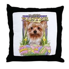 Easter Egg Cookies - Yorkie Throw Pillow